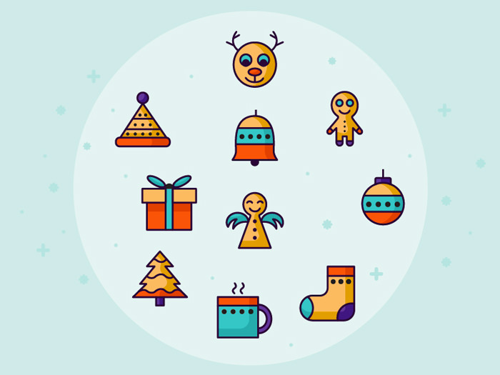 40+ Free Christmas Icons to Spruce Up Your Design