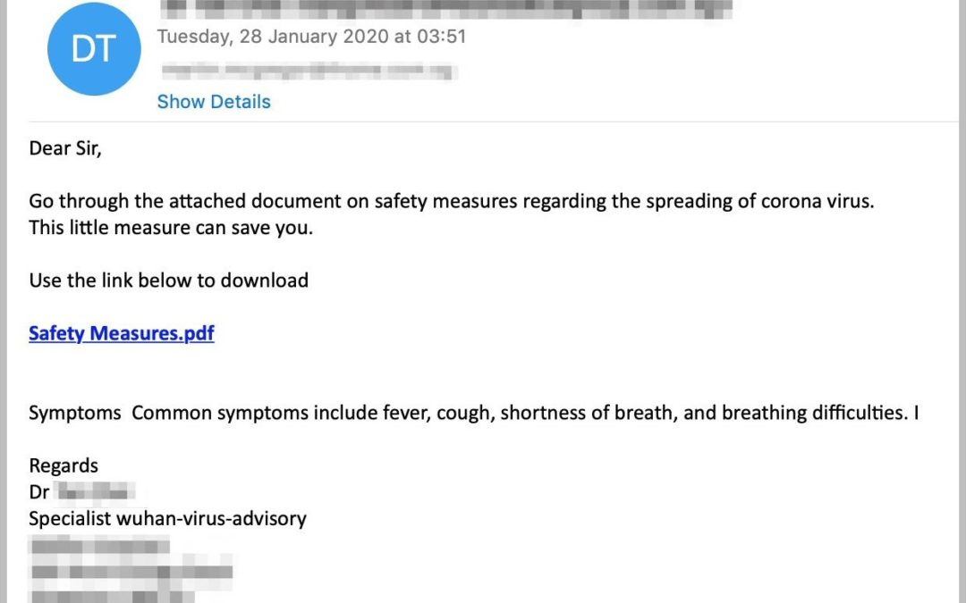 Watch Out for Coronavirus Phishing Scams
