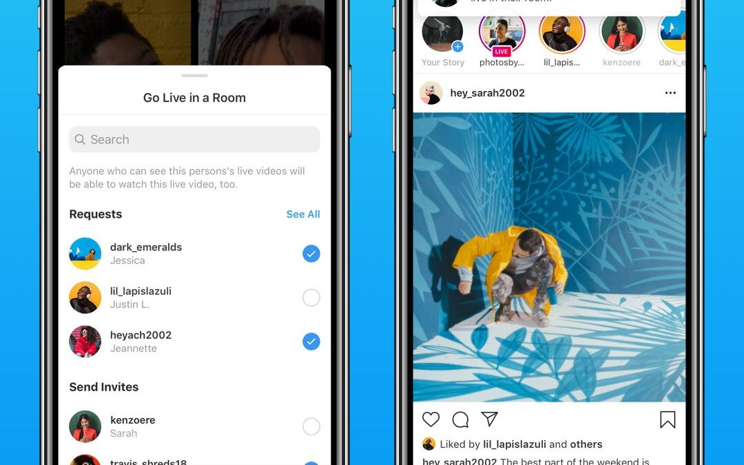 Instagram Live Now Hosts More People With 'Rooms'